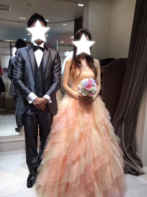 ドレスのサイズ合わせ